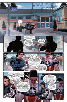 """""""Does SuperFalcon sound dumb to you?"""" Bucky & Sam -Preview: Captain America: Sam Wilson #8, Publication Date: April 20th, 2016"""