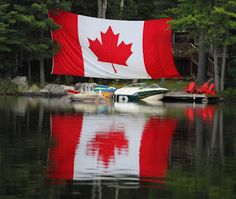 canadian flag at the lake Miss Canada, Happy Canada Day, Canada 150, Canadian Things, I Am Canadian, Canadian Girls, Cool Countries, Countries Of The World, Candian Flag