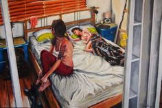 "Saatchi Art Artist James Needham; Painting, ""The Mirror"" #art"