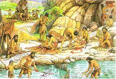Paleolítico y Neolítico - Curso de Historia Primer Año Prehistoric Man, Primitive Survival, Dieta Paleo, History Online, Stone Age, Prehistory, Nature Pictures, Art Inspo, Painting