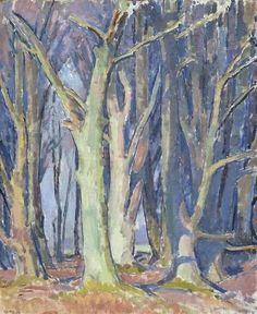 Henry Lamb (British, 1883-1960), Wilton Wood, 1953. Oil on canvas board, 24 x 19½ in. (61 x 49.5cm.)