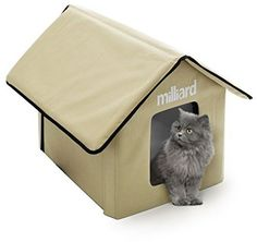 Milliard Portable Outdoor Pet House For Cat, Kitty Or Puppy; Perfect Bed Cave X…