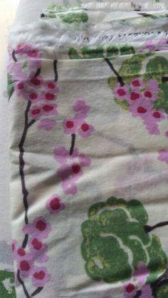 Japanese flower cream cotton voile 130cm x 1.2m
