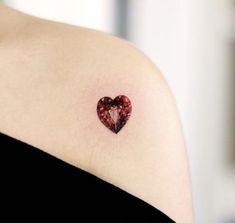 Ruby Tattoo, Gem Tattoo, Jewel Tattoo, Diamond Tattoos, Spine Tattoos, Body Art Tattoos, Girl Tattoos, Tatoos, Elegant Tattoos