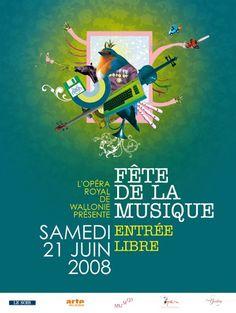 Fêtes de la Musique par Thomates Dedry #juincreatif #fdlm