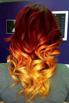 All sizes | orange ombre hair | Flickr - Photo I wouldn't do this but this is freaking cool