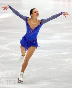 Sarah Meier  Blue Figure Skating / Ice Skating dress inspiration for Sk8 Gr8 Designs