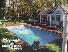 This rectangle pool in Belle Terre is from 1999!