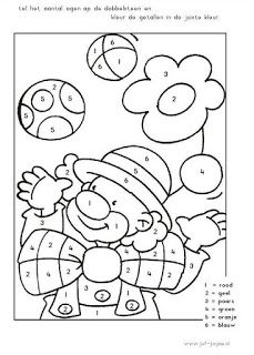 Clown color by number Preschool Circus, Circus Crafts, Carnival Crafts, Preschool Worksheets, Math Activities, Preschool Activities, Colouring Pages, Coloring Books, Theme Carnaval