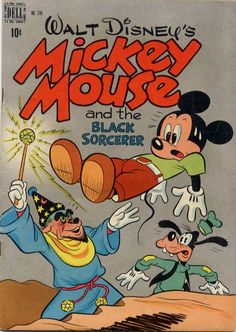 COMIC mickey mouse and black sorceror #comic #cover #art