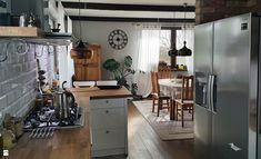 Kuchnia otwarta - zdjęcie od Projekt Kawka - Kuchnia - Styl Rustykalny - Projekt Kawka
