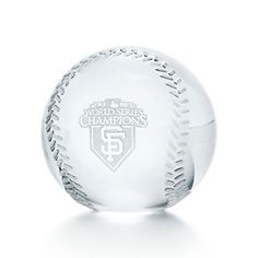 San Francisco Giants baseball paperweight in crystal.
