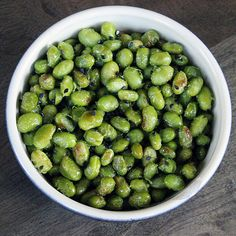 High Protein and Low Calorie: Roasted Edamame: It's time to upgrade your standard bowl of steamed edamame.