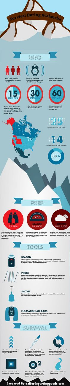 Survival During Avalanche Infographic