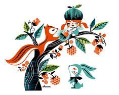 Un poquito de retro kawaii - Charuca Vargas #illustration #kawaii #design #charuca