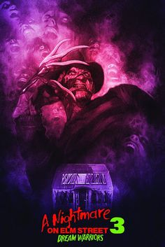 """""""If You Think You're Ready For Freddy, Think Again! """" A Nightmare on Elm Street Dream Warriors fan poster is dreamy Horror Icons, Horror Movie Posters, Movie Poster Art, Horror Films, Fan Poster, Freddy Krueger, Dream Warriors, Horror Movie Characters, Arte Horror"""