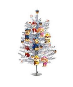 Glam up with Paw Patrol Mini Christmas Tree Kit. A magical selection of Paw Patrol Outdoor Decorations for Christmas at PartyBell. Christmas Tree Light Up, Diy Christmas Tree Topper, Ceramic Christmas Trees, Mini Christmas Tree, Christmas Tree Themes, Silver Christmas, Kids Christmas, Xmas, Led Tree Topper