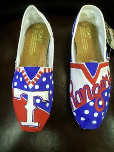 painted Toms  TEXAS RANGERS