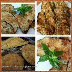 Cotolette di melanzane aromatizzate al pesto Aubergine schnitzel met pesto  enzamariablog.wordpress.com