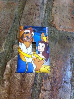 Beauty and the Beast Light Switch Cover by Hippiemysticstudio