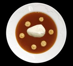 Nyponsoppa! Rosehip soup. Served warm with almond macaroons and vanilla icecream. YUMMY!