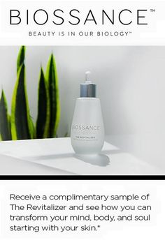 BIOSSANCE REVITALIZER Complimentary Sample  Just answer a short survey Soap, Personal Care, Canning, Bottle, Beauty, Beleza, Personal Hygiene, Flask, Soaps