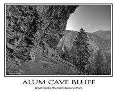Alum Cave Bluff located in the Great Smoky Mountains National Park. This was the trail I took on my first visit to Mt. LeConte (not when this photo was taken though). I fell in love with it. The beauty on this trail is just indescribable. Because of the diversity of the landscape and so many unique land forms, this is the trail I choose for any first-time Smoky Mountain hikers. It is such a good trail to give people the overall sense of the Smokies.