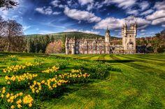 Balmoral Castle in Aberdeenshire, Scotland.