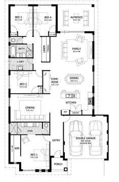 16 New House Floor Plan Ideas New House Floor Plan Ideas - PERFECTA Floorplan Architecture House Plans Blueprints and Single Storey House Design The Metro Smart Practical Awesome f. Modern House Floor Plans, Home Design Floor Plans, New House Plans, Dream House Plans, Plan Design, Modern House Design, Design Ideas, Design Design, Interior Design