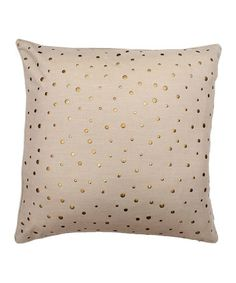 Take a look at this Natural Beige Nail Line Pillow by THRO on #zulily today!