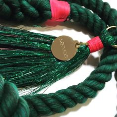 """THE """"CACTUS"""" LEASH BY NOTYERS #dog #leash #emerald #cactus"""