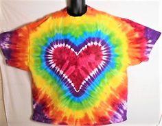 5X Tie Dye, Plus Size Gay Pride Shirt, Rainbow Tie Dye, Rainbow Heart T Shirt, Hippie Shirt, Festival Clothes, Plus Size Rave Wear, Fun!! by FarmFreshTieDyeStore on Etsy Tie Dye Party, Tie Dye Crafts, Gay Pride Shirts, Hippie Shirt, Pride Parade, Tie Dye Shirts, Cool Ties, Rainbow Heart, Rave Wear