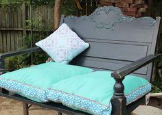 diy+porch+swing | DIY Headboard Porch Swing