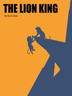 creative minimal movie poster of the The Lion King movie