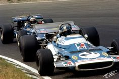 Dutch GP 1970. JPB in the Matra MS120 ahead of '69 teammate Jackie Stewarts' March 701 Ford…both cars inferior to their 1969 Matra MS80 Ford. JPB 5th in the first race win for Rindts' Lotus 72 Ford but all unimportant in the context of Piers Courage' death during the race.