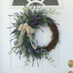 Spring Wreath-Lavender Wreath-Spring Door Wreath-Wedding Wreath-Provençal Wreath-Summer Wreath-French Country Wreath-Mother's Day Wreath - Decoration For Home Spring Door Wreaths, Easter Wreaths, Summer Wreath, Holiday Wreaths, Greenery Wreath, Floral Wreath, White Wreath, Lavender Wreath, Lavander