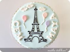 Paris cake but the top could be a cookie ;)
