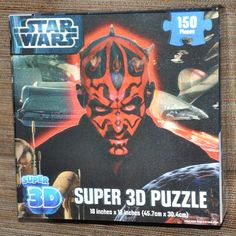 Star Wars Puzzle Darth Maul 150 Pieces Super 3D 18x12 inch New Sealed #starwars