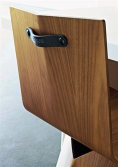 Bent Wood, Studded Leather Handle Detail... nice touch!