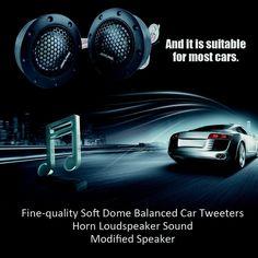 Soft Dome Balanced Car Tweeters Horn Loudspeaker Sound Modified Speaker Sales Online j1116-1 - Tomtop