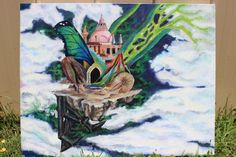 The Stuff of Dreams – Original Surrealist Painting, Fantasy Painting, acrylic paint on canvas, 22X28 by EmilySetoFineArt