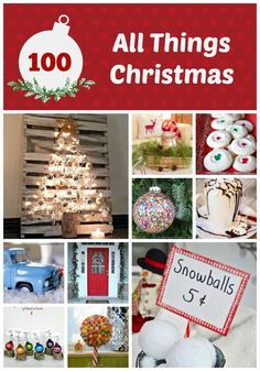 Over 100 Christmas ideas-all in one place! Recipes, crafts, decorating ideas, and home decor-it's all here!