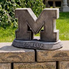 College sports fans, the Henri Studio Stone Mascots - NCAA - Vintage is so for you. These officially licensed mascots, available for many of. U Of M Football, Michigan Wolverines Football, College Football, Alabama Football, American Football, Michigan Go Blue, Michigan Gear, Cheerleading Pyramids, University Of Michigan