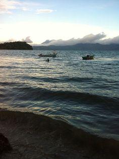 El Salvador - Ilopango Lake at Sunset - fisherman going back to Apancingo Village / suchitoto.tours @gmail.com