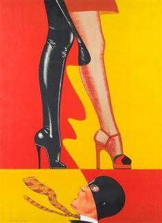 Allen Jones (b. 1937, British), 1976, Untitled, Color lithograph, 76 x 57 cm. © Allen Jones