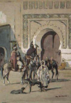 Fauconniers marocains von Edouard Edmond Doigneau