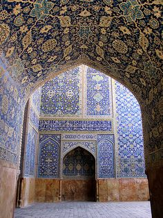 Isfahan Mosque - Garden of Allah, Iran Islamic Architecture, Beautiful Architecture, Beautiful Buildings, Art And Architecture, Islamic Tiles, Islamic Art, Beautiful Mosques, Beautiful Places, Voyage Iran