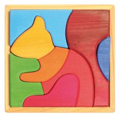 Wonderful wooden jigsaw from those lovely people at Grimm's: Grimm's Toys First Creative Puzzles - Squirrel