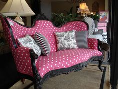 Pink Polka Dots! I have nowhere to put anything like this, but I so want it!