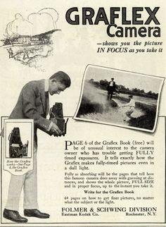 Kodak's Graflex cameras – Graflex Camera – shows you the picture In Focus as you take it (1916)